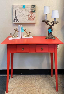 coral color end table