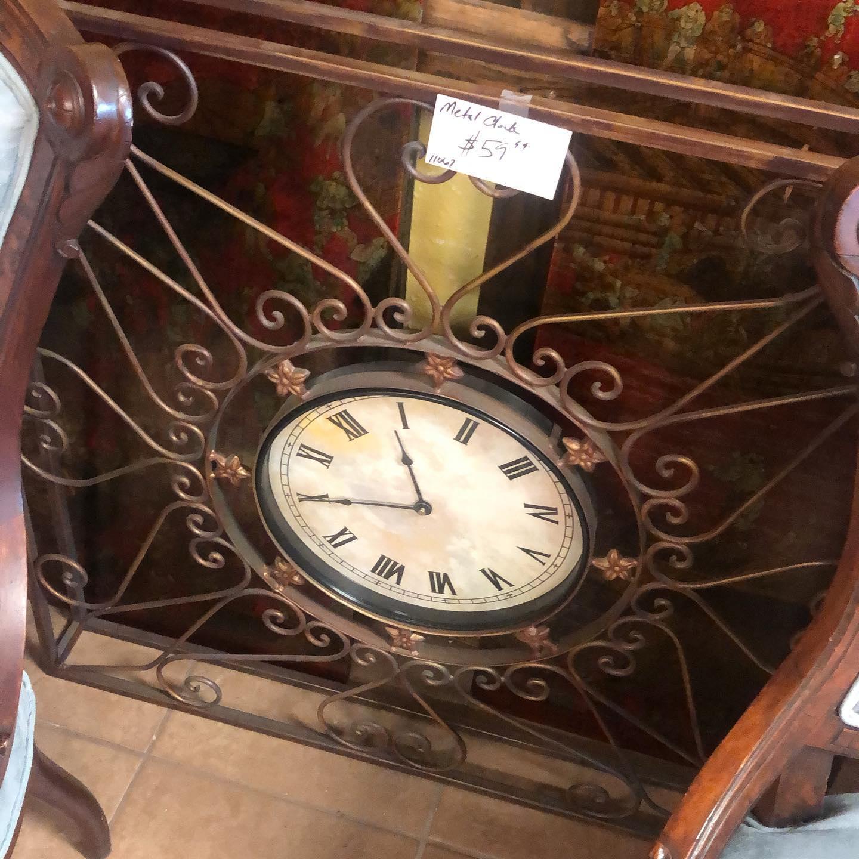 36 square metal clock