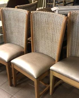 4 Pottery Barn rush tall back chairs.jpg
