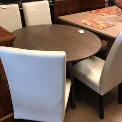 Crate and Barrel 42 round dinette