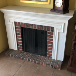 Fireplace mantle - no insert