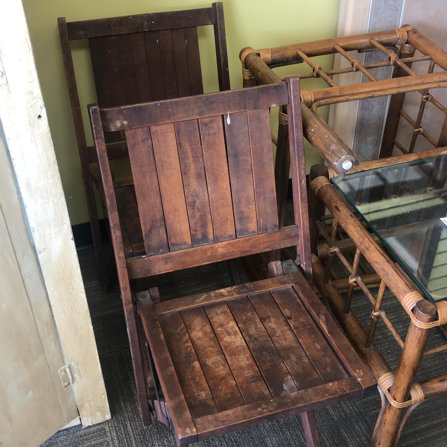 pair folding cabanna chairs