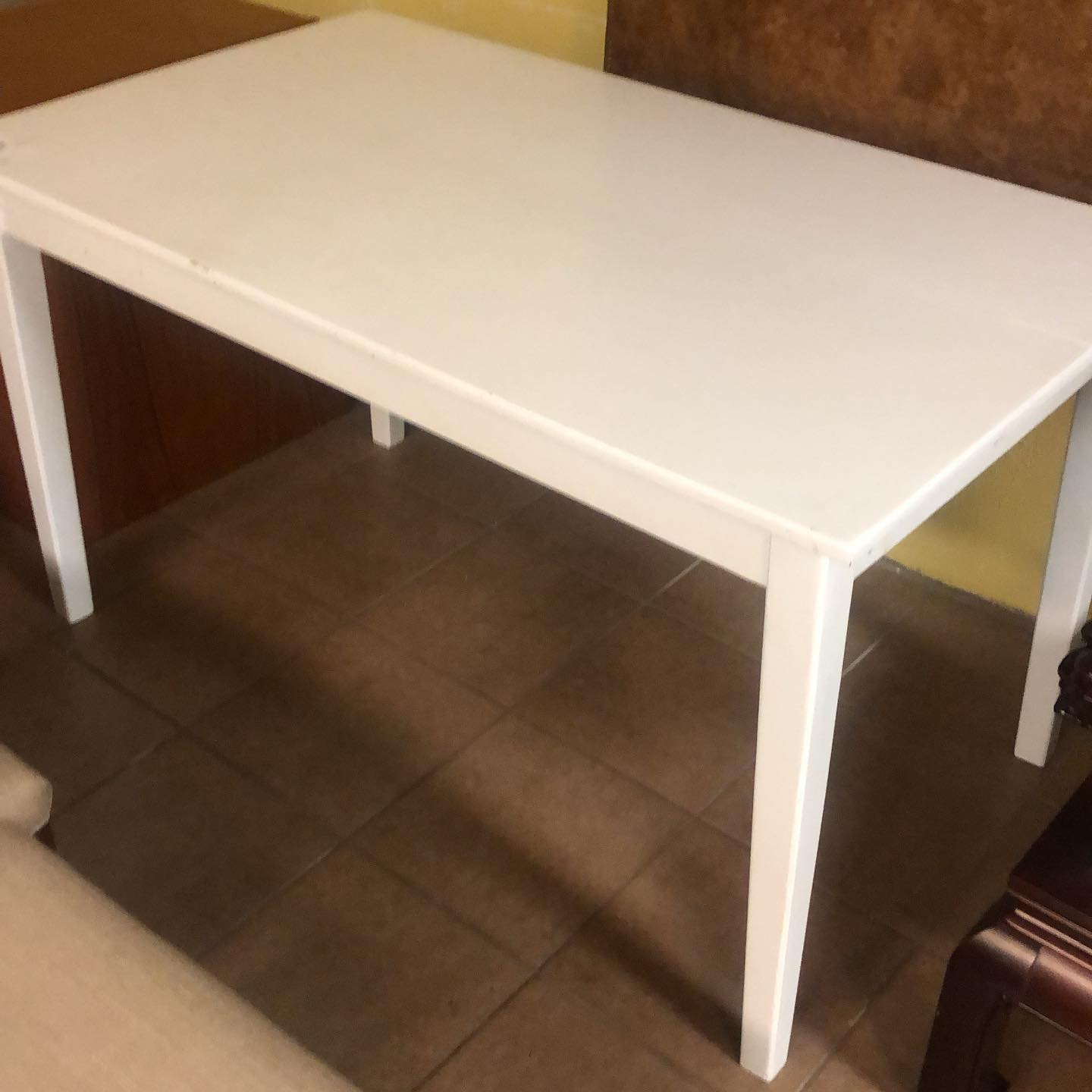 3x5 white wood dining table only