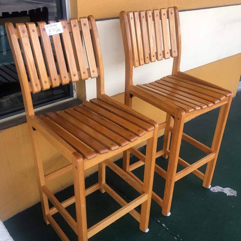 teak outdoor bar height stools