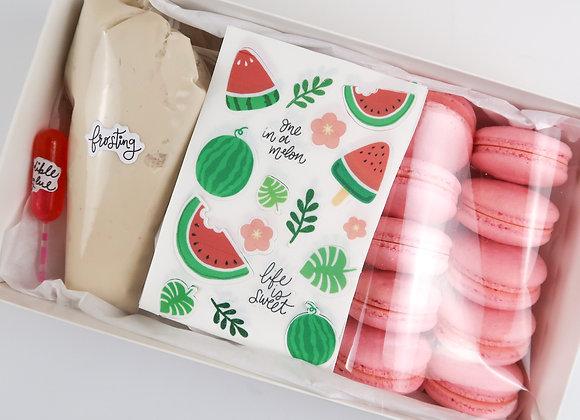 Macaron Edible Sticker Decorating Kit
