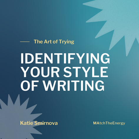 Identifying Your Style of Writing