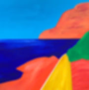 teddy m contemporary art painting capri italy sea scape
