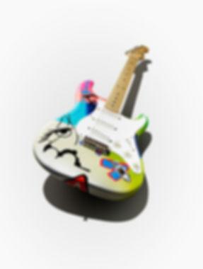 Ed Sheeran's Crash x Teddy M Fender Stratocaster art guitar