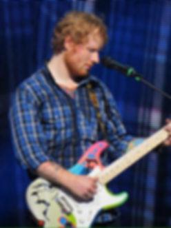 Ed Sheeran playing Crash x Teddy M fender stratocaster art guitar