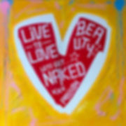 teddy m heart contemporary art painting get naked love life yellow red