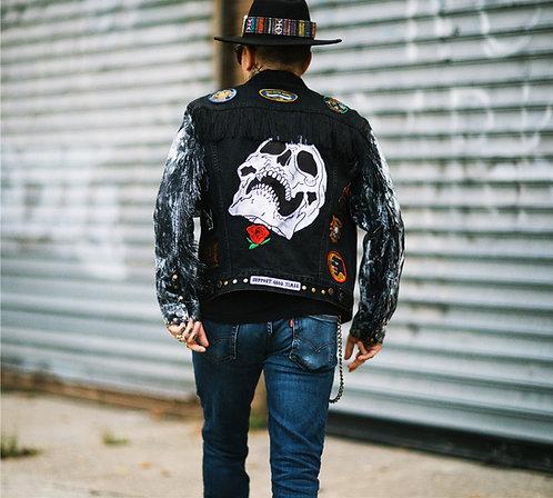 KVK Custom Fringe Denim Jacket