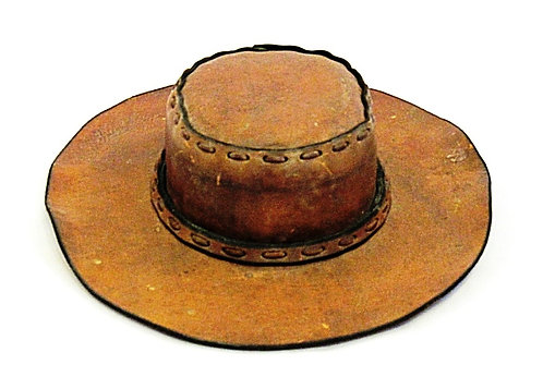 Handmade Leather Laced |  Western Hat
