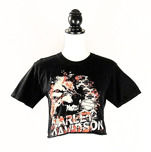 Harley Davidson Wolf | Cropped T-Shirt