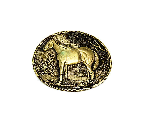 Equine Solid Brass Buckle