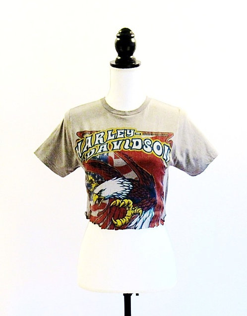 Harley Davidson Eagle | Cropped T-Shirt