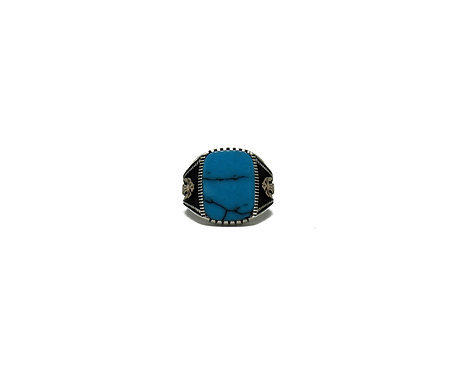 Blue Stone |  Filigree Ring