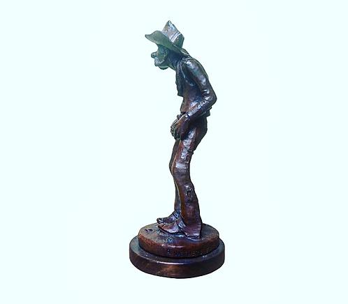 Wooden Cowboy Statue