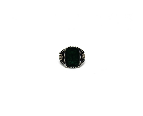 Green Stone |  Filigree Ring