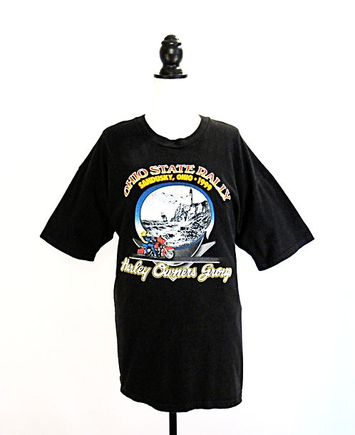 Harley Davidson Ohio State Rally | Sandusky, Ohio 99' | T-Shirt