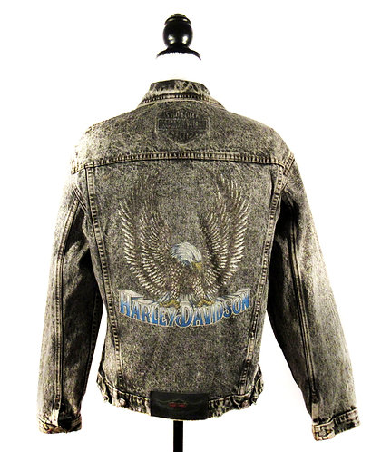 Harley Davidson Acid Wash | Denim Jacket