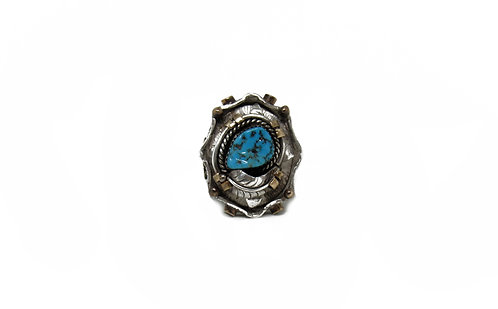 Turquoise & Feather | Navajo Ring