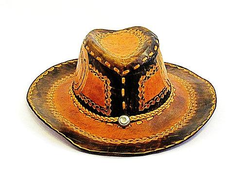 Vintage Tooled Horse |  Cowboy Hat