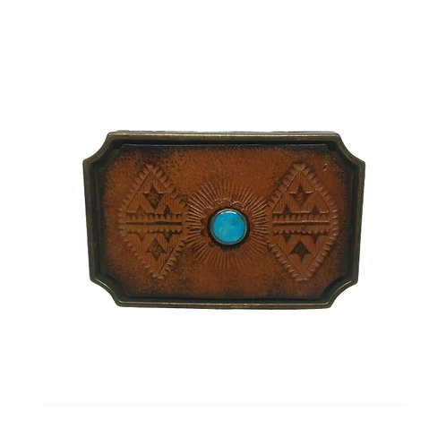 Turquoise Stone Leather | Buckle