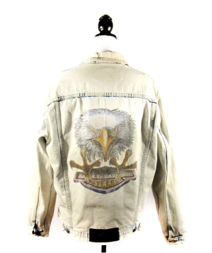 Harley Davidson Eagle Acid Wash | Denim Jacket