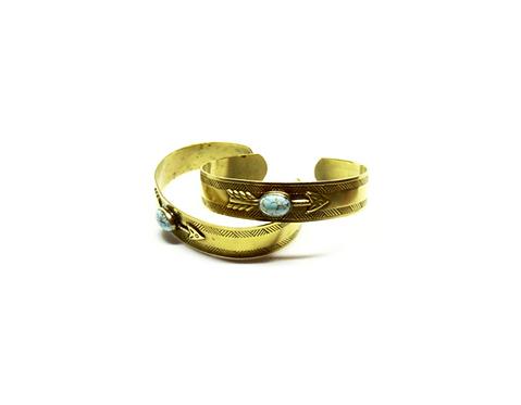 Brass   Turquoise Bracelets