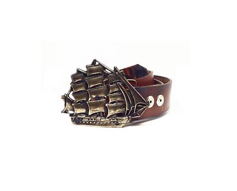 Clipper Ship Buckle | Belt Combo