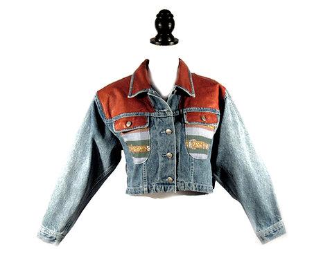 Mitchie's Matchings | Embossed Denim Jacket
