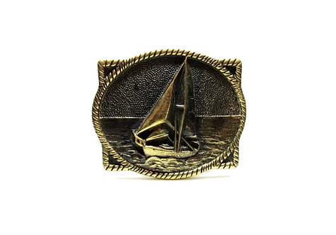 Solid Brass Sailboat Buckle