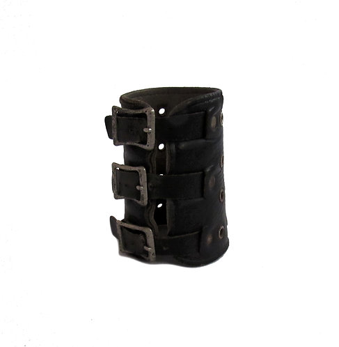 Vintage Leather Bracer | Strongman Cuff