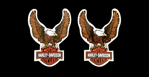 Vintage 70's Harley Stickers