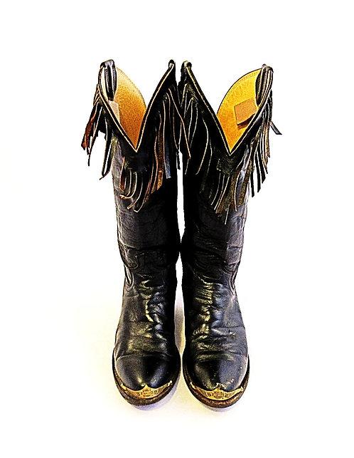 Harley Davidson   Chippewa Fringe Boots