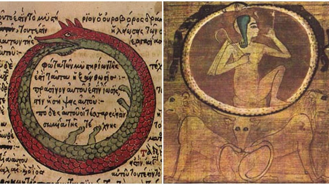 """""""Ouroboros a serpente que engole a própria cauda"""""""