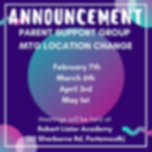 Parent Mtg Change of Location January 20