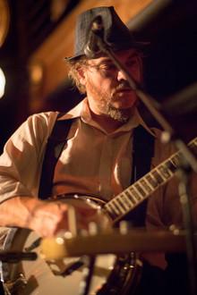 Drew on banjo