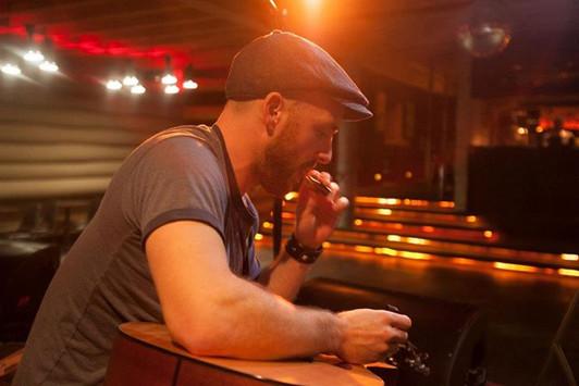 Sound check prep at Doug Fir Lounge. Photo by Tim Gunther