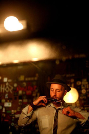 Will West backstage at Doug Fir Lounge Photo by Joshua Zirschky