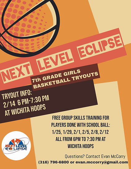 Copy of Basketball Tryouts Poster Flyer