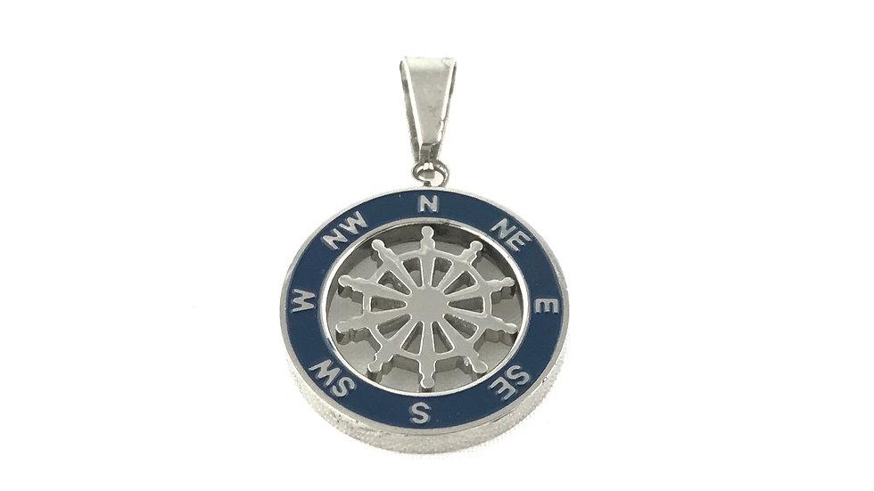 Boat Wheel Compass Pendant 2