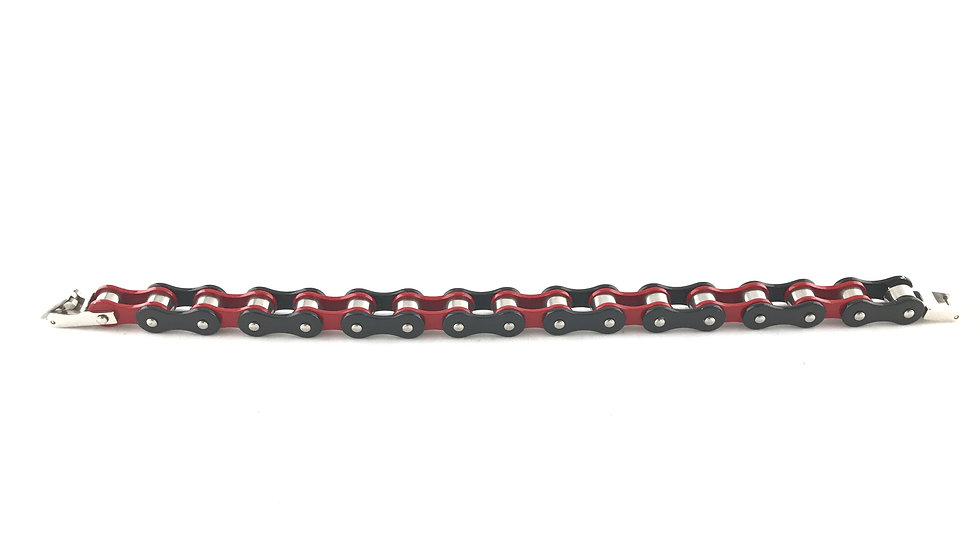 Red/Black Chain Link Bracelet