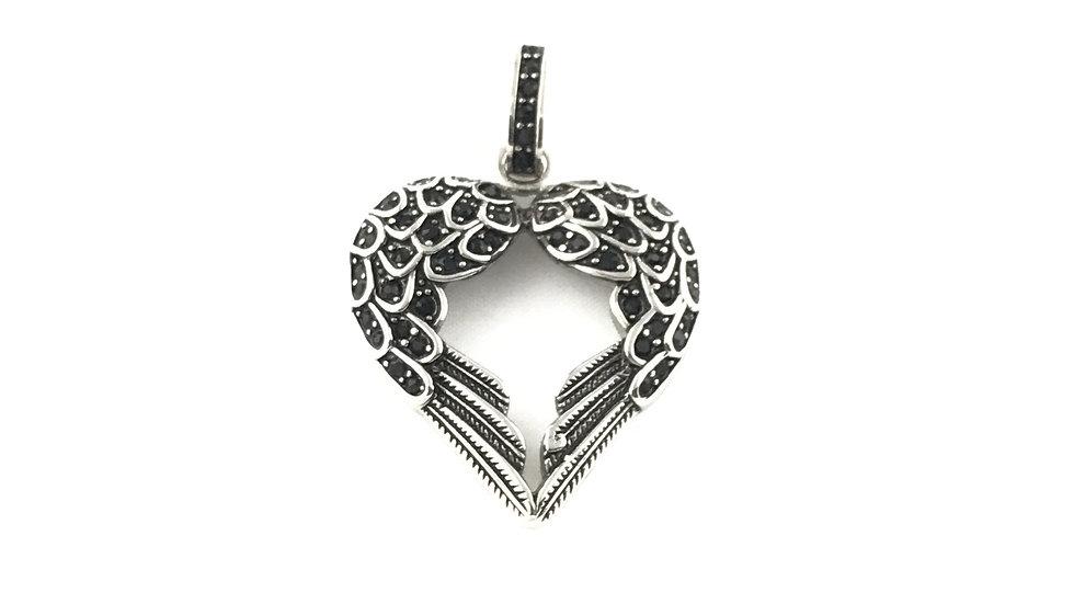 Angel Wings Heart Pendant