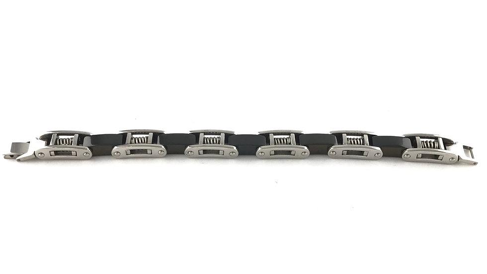 Black Silver Spring Bracelet