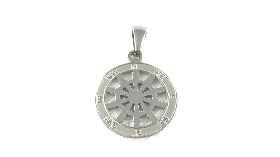 Boat Wheel Compass Pendant 1