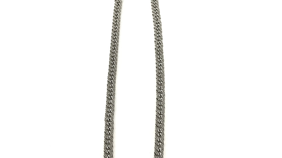 Silver Squared Cuban Link