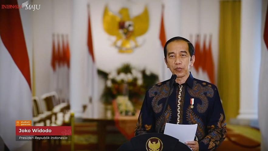 Presiden Jokowi Online Dalam Studium Generale 2020