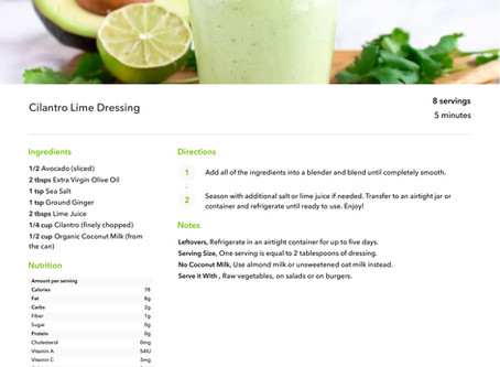 Cilantro Lime Dressing - YUM!