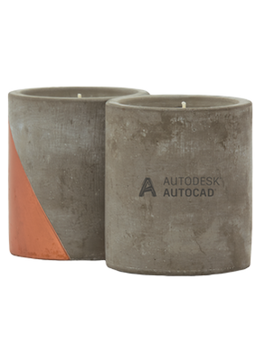 Autocad Serenity Cement Candles